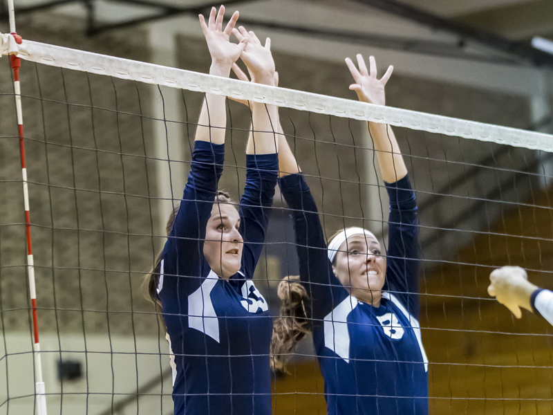 richardson posts six blocks as volleyball falls to queens. Black Bedroom Furniture Sets. Home Design Ideas