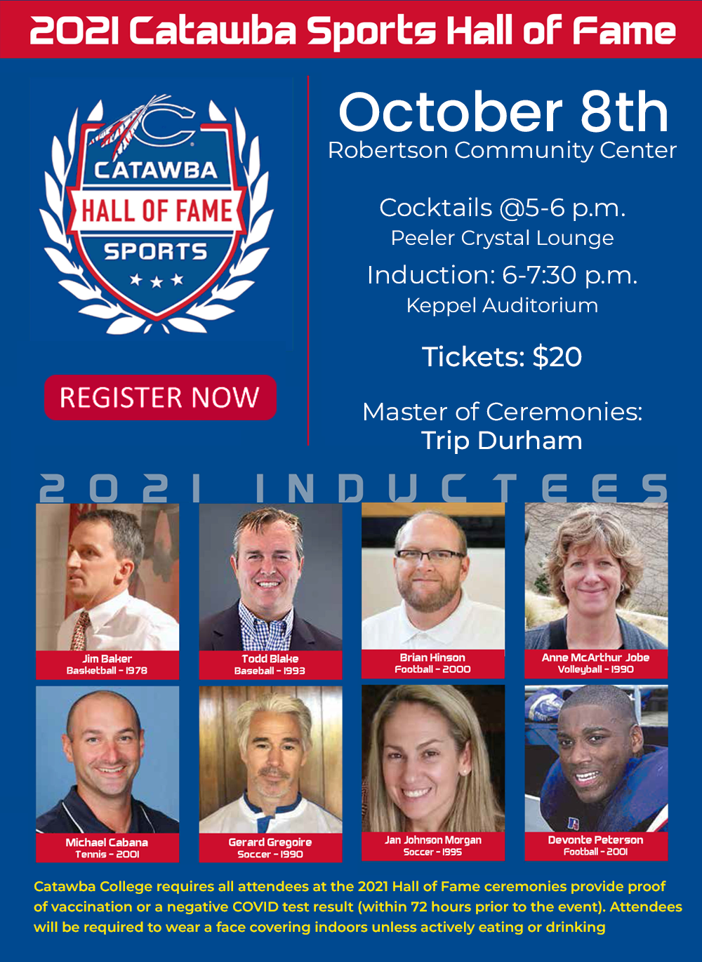 Catawba College Sports Hall of Fame 2021